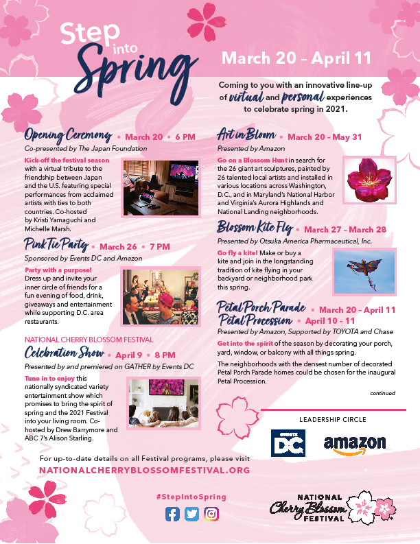 Step into Spring Events: March 20- April 11