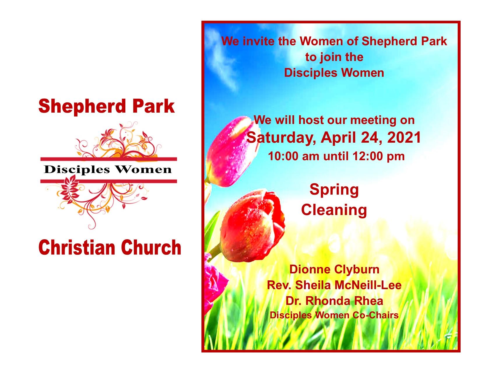 Shepherd Park Women's Ministry Announcement April